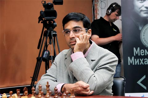 Anand's loss to Carlsen may be a heavy psychological blow. Photo by Etery Kublashvili.