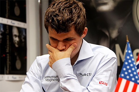 Carlsen is back in the running.