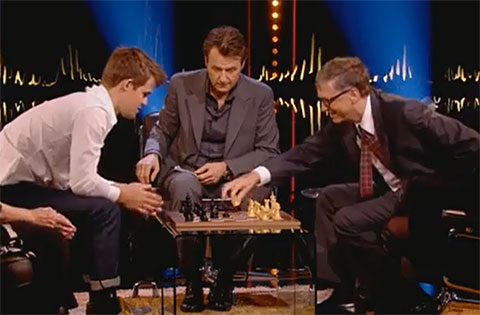 Carlsen mates Bill Gates in 79 seconds (9 moves)! Carlsen19-gates
