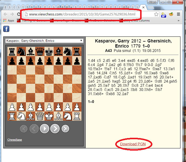 Sharing games via email, Skype, or WhatsApp | ChessBase