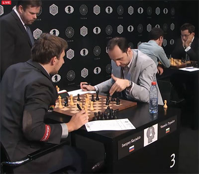 Topalov clearly seems out of his league this tournament.