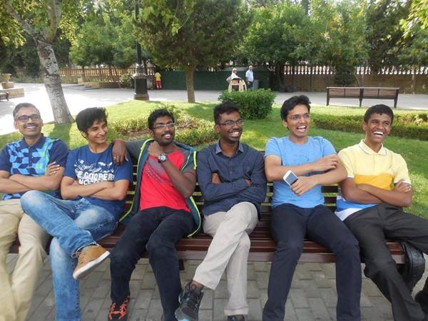 Coach R.B. Ramesh, Vidit Gujrathi, B. Adhiban, S.P. Sethuraman, Pentala Harikrishna, Murali Karthikeyan