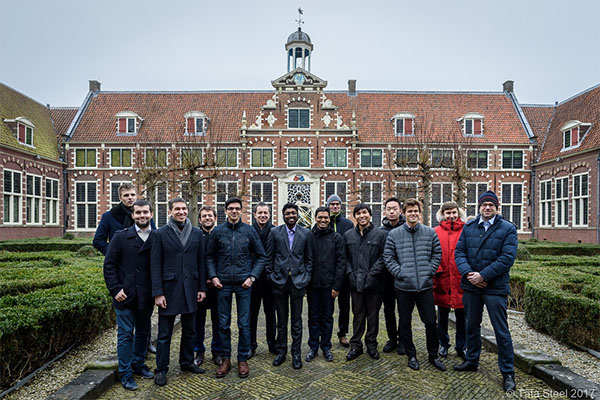 Tata GMs posing in front of the Frans Hals Museum.