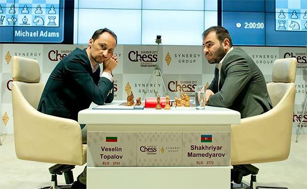 Ni Veselin Topalov ni Shakhriyar Mamedyarov no querían correr riesgos en la última ronda