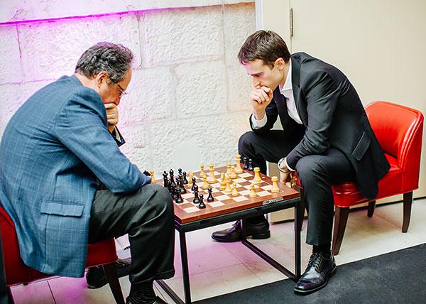 Boris Gelfand y Ernesto Inarkiev |Foto: Valera Belobeev