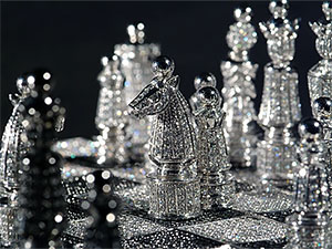 Chess sets for the rich and famous