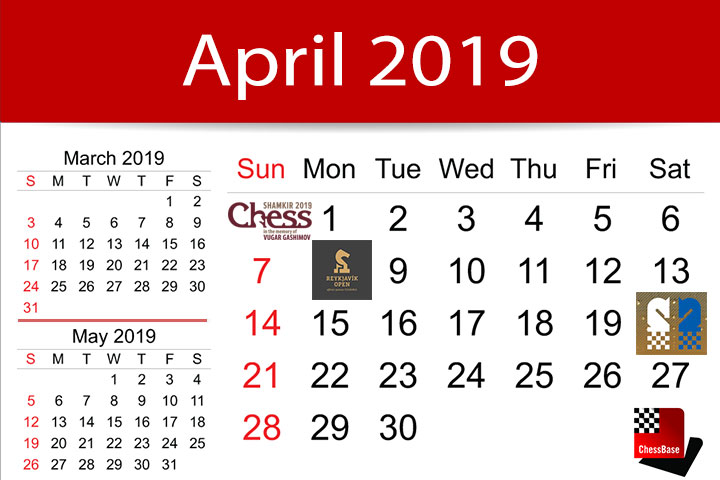 Chess Calendar April 2019 Chessbase