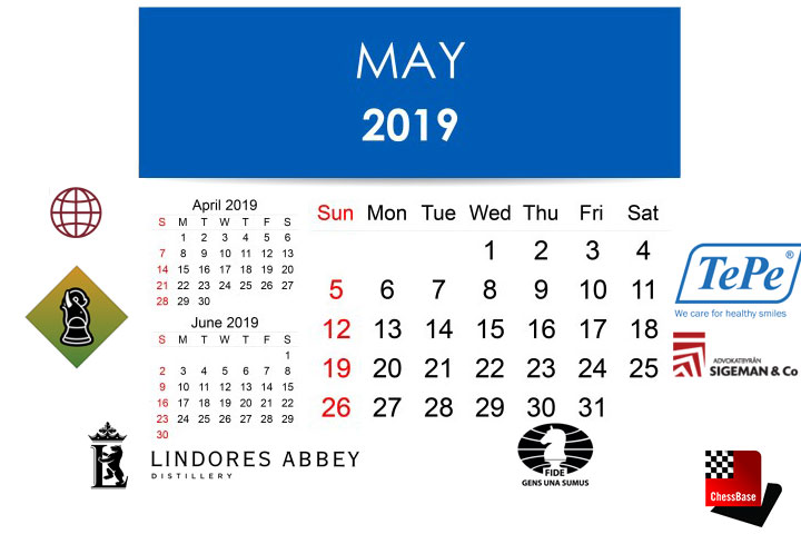 Chess calendar: May 2019 | ChessBase