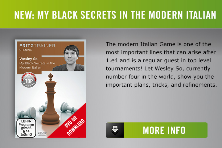 Wesley So My Black Secrets in the Modern Italian