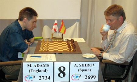Shirov (rechts)