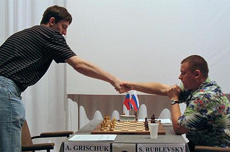 Grischuk-Rublewski, Chessbase