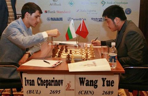 Ivan Cheparinov (Bulgaria) vs. Wang Yue (China)