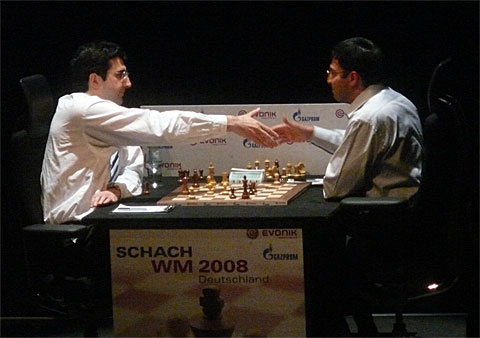 Success for the Tiger of Chennai! Photo by Frederic Friedel of ChessBase.
