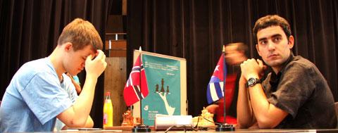 Magnus Carlsen (Norway) vs. Lenier Dominguez (Cuba)