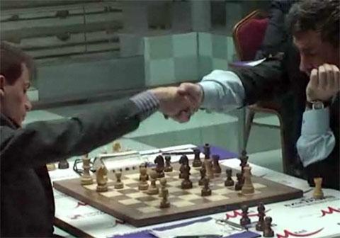 Cheparinov resigns to Ivanchuk before being mated.
