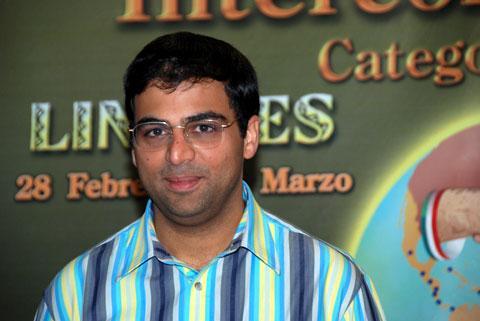 GM Viswanathan Anand, winner of 2008 Morelia-Linares.