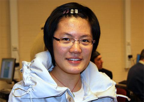 Hou Yifan. Photo by GM John Nunn.