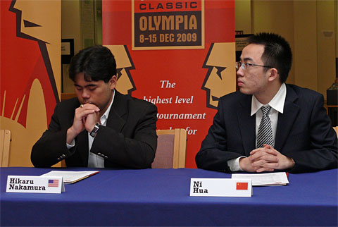 Hikaru Nakamura couldn't quite put his Chinese opponent away.