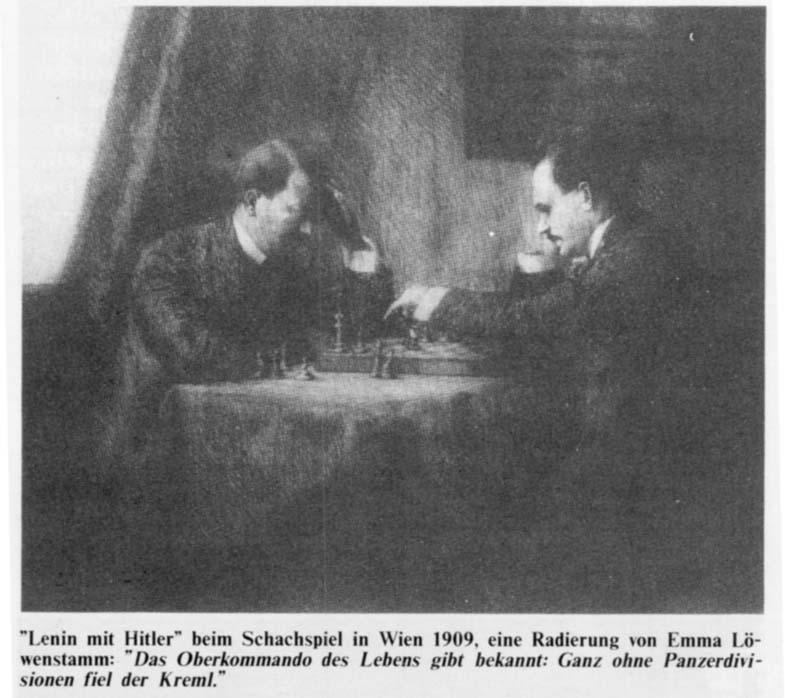 Hitler  Lenin playing chess