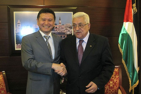 Kirsan Ilyumzhinov with Mahmoud Abass