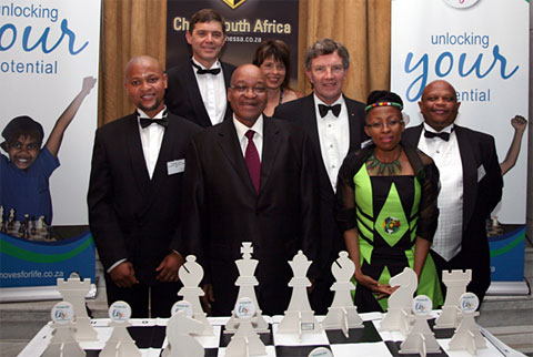 The President with trustees of the Supreme Chess Trust.