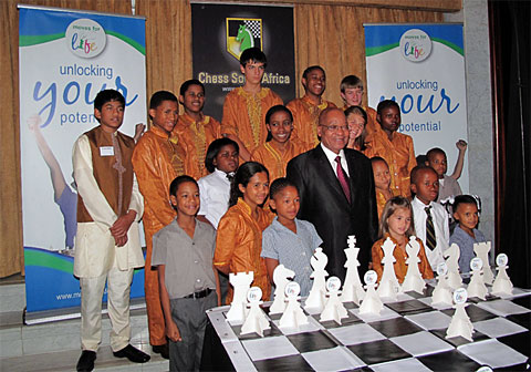 President Zuma with some of the beneficiaries of the program.