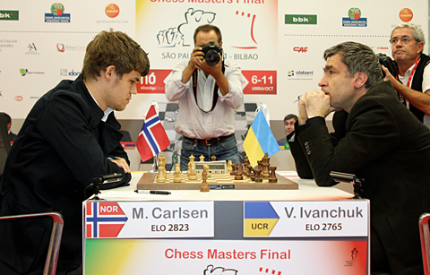 Magnus caught a slumping Ivanchuk. Photo by Pascal Simon.