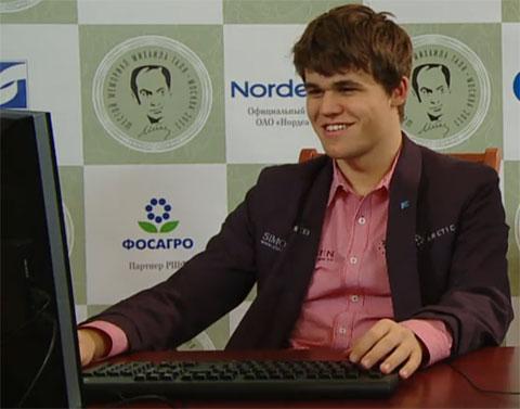 Magnus Carlsen, winner of 2011 Tal Memorial