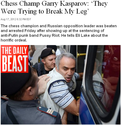 Garry Kasparov arrested and beaten by police Dailybeast02