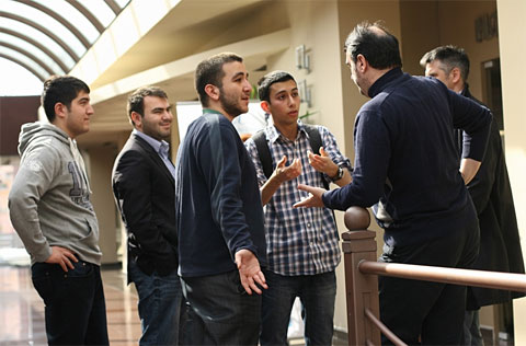 Players protesting after a double loss ruling. Photo by Chess-News.