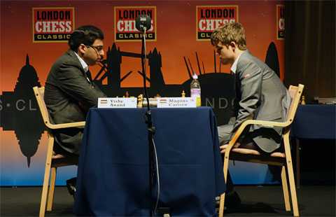 Me thinks that this is a prequel to  something greater. Photo by ChessBase.