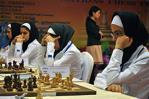 Iran at 2012 Asian Team in Zaozhuang, Shandong, China.