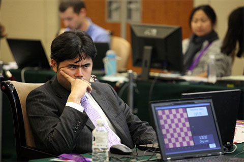 Hikaru Nakamura (USA) won three silver medals at the World Mind Sport Games in Beijing.