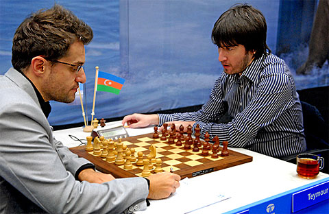 Aronian-Radjabov would only take 12 minutes to decide. Photo by Frits Agterdenbos (www.chessvista.com).