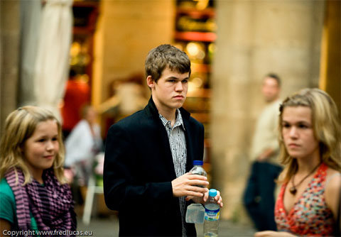 Photo of Magnus Carlsen & his  Sister   Signe Carlsen