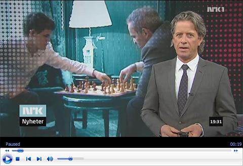 Carlsen en la tele