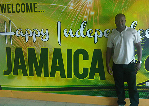Jamaican-born Chess GM Maurice Ashley during his visit to Jamaica in 2011. Photograph by I. Wilkinson