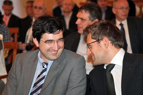Kramnik y Aronian en el Zurich Chess Challenge 2012