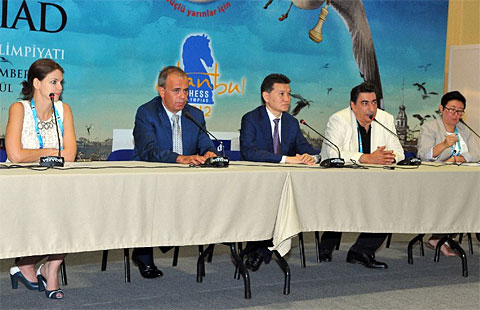 2012 chess olympiad fide press conference chessbase for Fide hotel istanbul