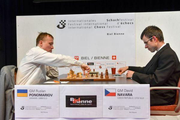 Ruslan Ponomariov venció a David Navara   Foto: Pascal Simon
