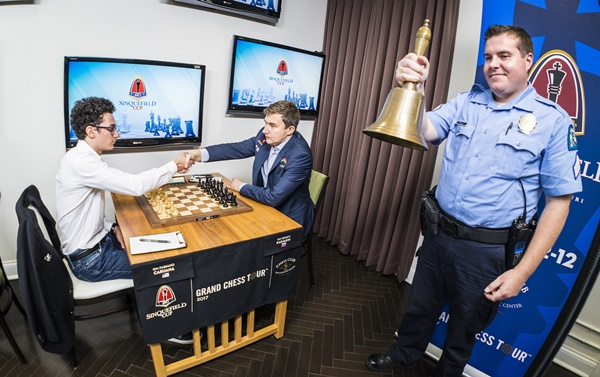 Caruana-Karjakin and police officer