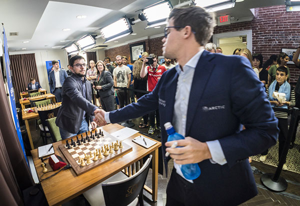 Vachier-Lagrave and Carlsen