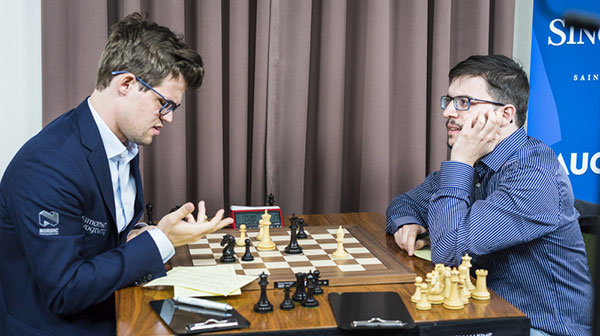 Carlsen and Vachier-Lagrave