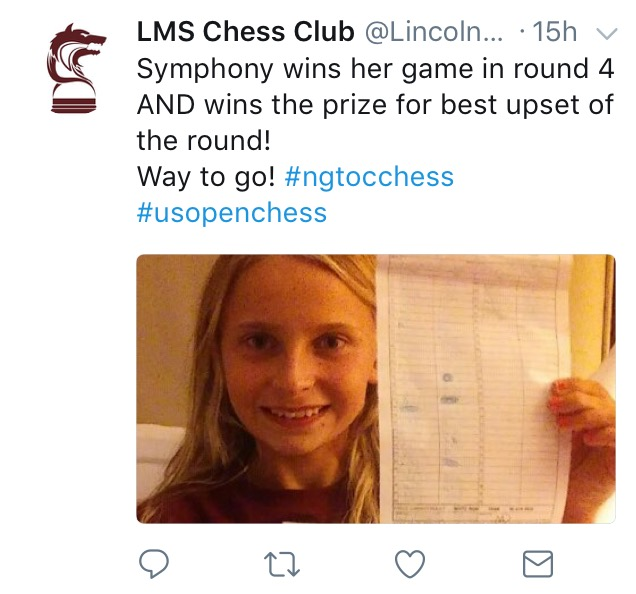US Chess tweet