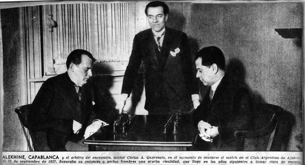 Capablanca and Alekhine in 1927
