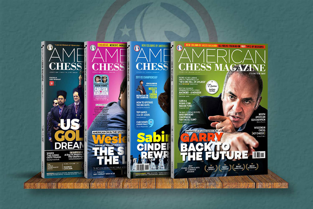 American Chess Magazine covers issues one to four