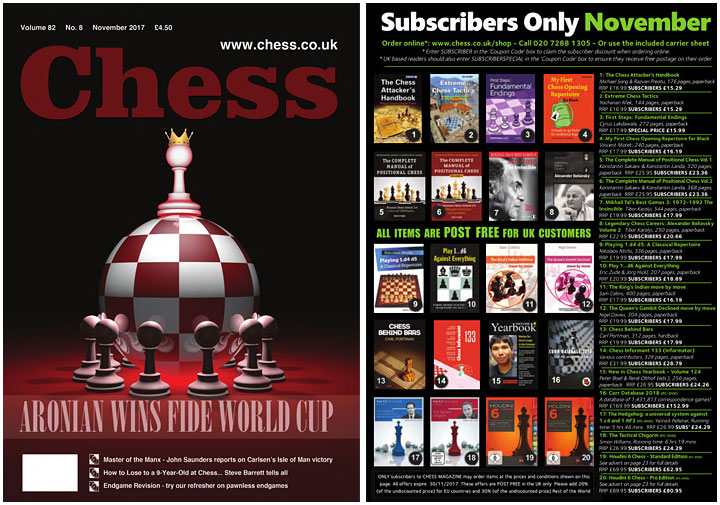 Chess November front and back cover