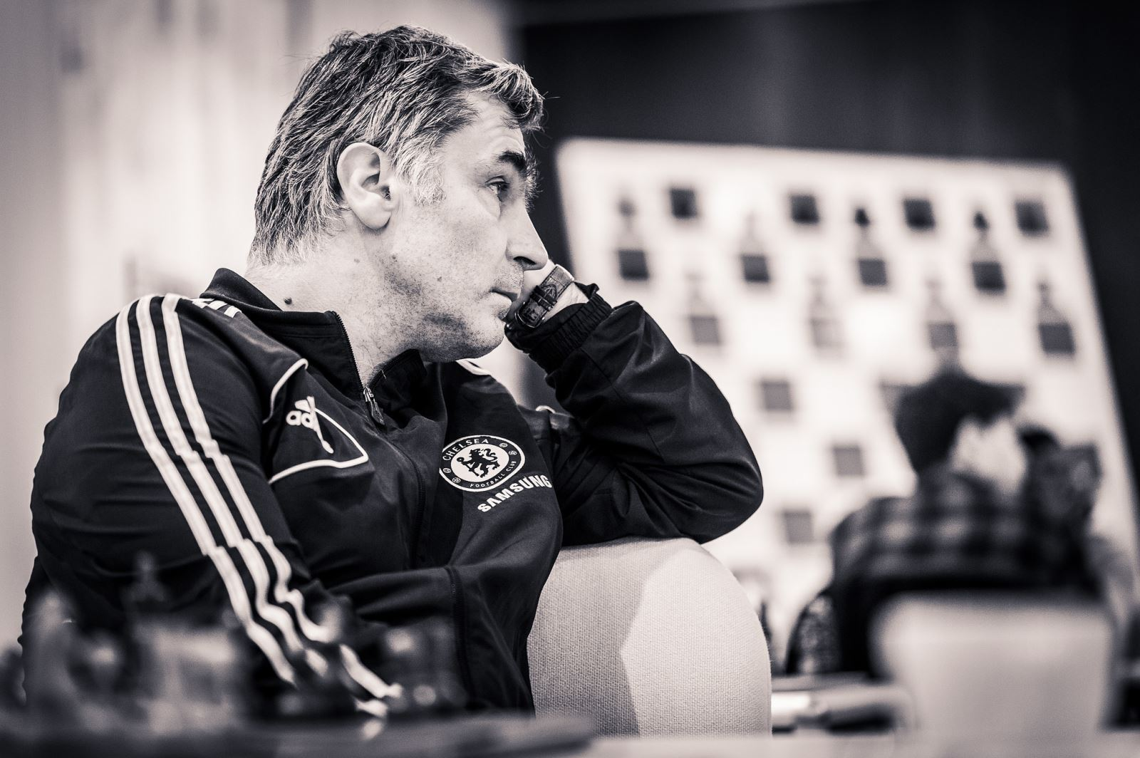 Vassiy Ivanchuk during his fourth round game against Wei Yi