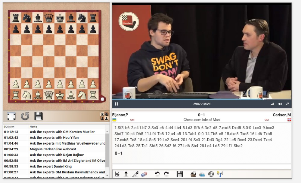 Magnus Carlsen interview at ChessBase