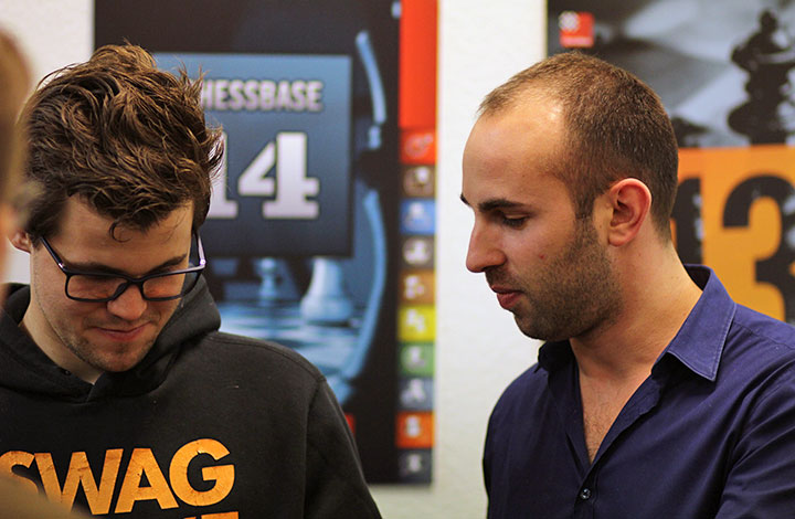 Magnus Carlsen and Lawrence Trent